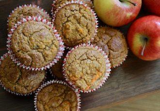 Apfelmuffins mit haferfkocken