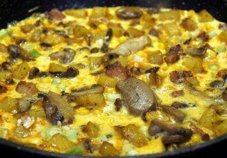 omlette pilze